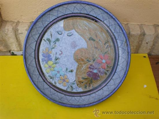 PLATO DE BARRO PORTUGES (Antigüedades - Porcelanas y Cerámicas - Otras)