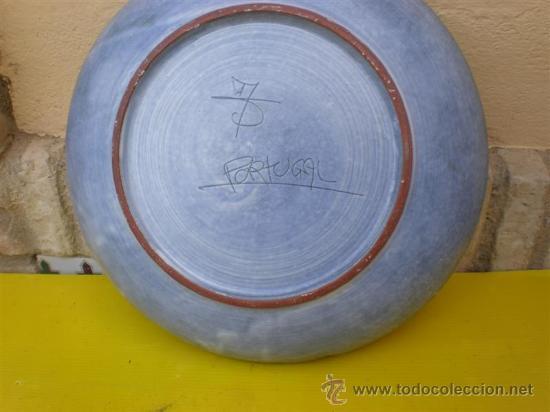 Antigüedades: plato de barro portuges - Foto 2 - 8633953