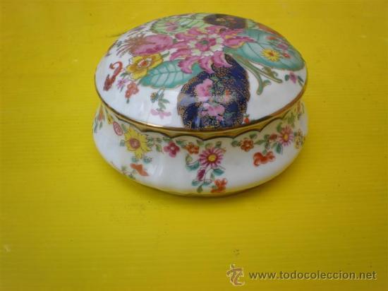 PEQÑA POLVERA DE CERAMICA (Antigüedades - Porcelanas y Cerámicas - Otras)