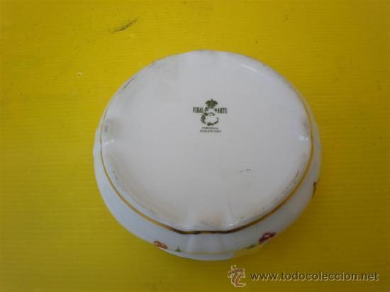 Antigüedades: peqña polvera de ceramica - Foto 2 - 8634059