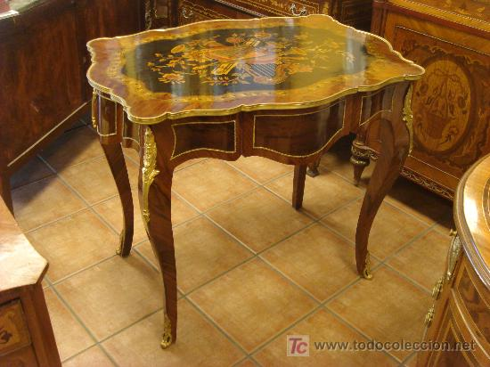 Elegante mesa ecritorio estilo luis xv comprar mesas for Mesas antiguas