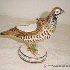 Antigüedades: PERDIZ DE ALCORA. Lote 27077605