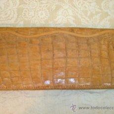 Antigüedades: BOLSO DE MANO ANTIGUO EN PIEL NATURAL. Lote 8710518