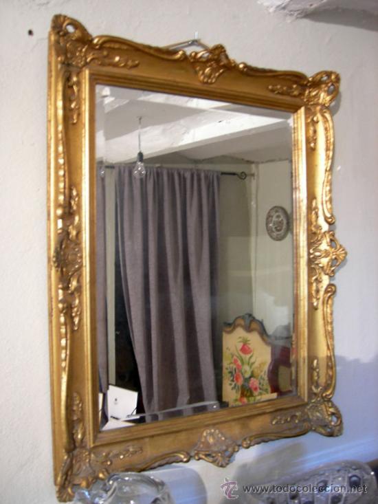 marco madera con espejo
