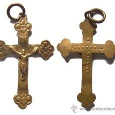 Antigüedades: *** RARA Y BONITA CRUZ DE ROSARIO , SOUVENIR DE MISION CON CRISTO , TAMAÑO: 3,6CM ***. Lote 26601853
