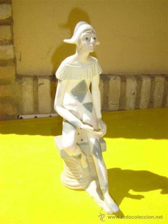 FIGURA ARLEQUIN (Antigüedades - Porcelanas y Cerámicas - Otras)