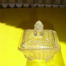 Antigüedades: PEQUEÑO RECIPIENTE CRISTAL ANTIGUO. Lote 8878959