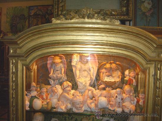 Antigüedades: EXCEPCIONAL Y COLOCABLE VITRINA DORADA NEOCLASICA ORO FINO, XIX, PIEZA DE MUSEO - Foto 3 - 27420742