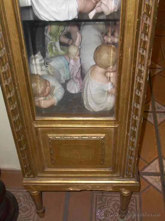 Antigüedades: EXCEPCIONAL Y COLOCABLE VITRINA DORADA NEOCLASICA ORO FINO, XIX, PIEZA DE MUSEO - Foto 5 - 27420742
