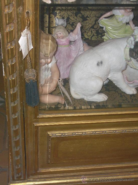 Antigüedades: EXCEPCIONAL Y COLOCABLE VITRINA DORADA NEOCLASICA ORO FINO, XIX, PIEZA DE MUSEO - Foto 7 - 27420742
