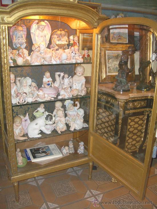 Antigüedades: EXCEPCIONAL Y COLOCABLE VITRINA DORADA NEOCLASICA ORO FINO, XIX, PIEZA DE MUSEO - Foto 8 - 27420742