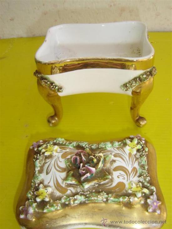 Antigüedades: joyero de porcelana - Foto 2 - 8901582