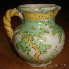 Antigüedades: JARRA DE PUENTE DEL ARZOBISPO PINTADA A MANO. ALTURA: 13.5 CMS.. Lote 26890365