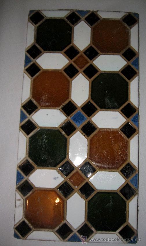 Antigüedades: ANTIGUA PAREJA DE AZULEJOS DE CUERDA SECA - SEVILLA - MENSAQUE RODRIGUEZ Y COMPAÑIA - TRIANA - MEDID - Foto 2 - 20944454