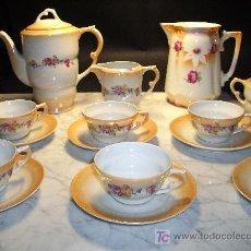 Antigüedades: ANTIGUO JUEGO DE CAFE SANTA CLARA. Lote 26625171