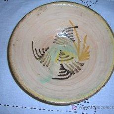 Antigüedades: IMPORTANTE PLATO HONDO DE CERAMICA S-XVIII DE PUENTE DEL ARZOBISPO. Lote 27610641