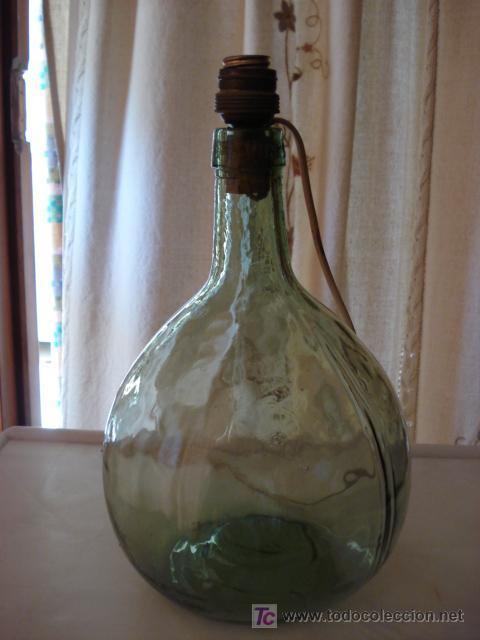 Gran botella de vidrio con casquillo para hacer comprar - Casquillos para lamparas ...