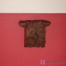 Antigüedades: PRECIOSA REPISA PEANA CAPITEL TALLADA. Lote 27207512