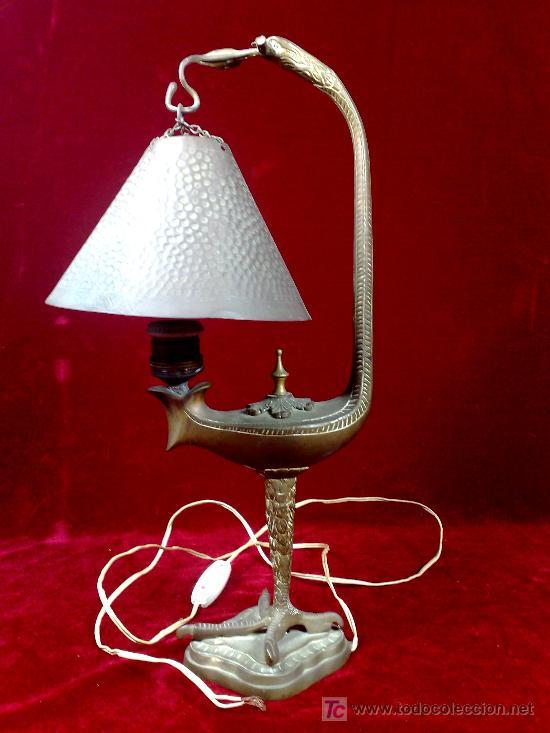 de mesa en y lampara Antigua Vendido extraña 1900de del Nymn0Ov8w