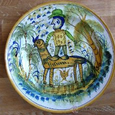 Antigüedades: PLATO ANTIGUO DE CERAMICA.MANISES, TALAVERA ??. Lote 26795857
