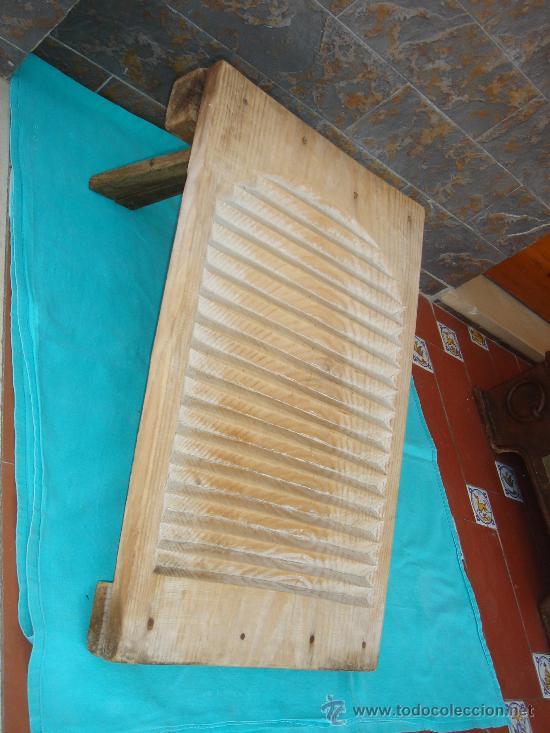 TABLA DE LAVAR -ESTREGADERA- (Antigüedades - Técnicas - Rústicas - Utensilios del Hogar)