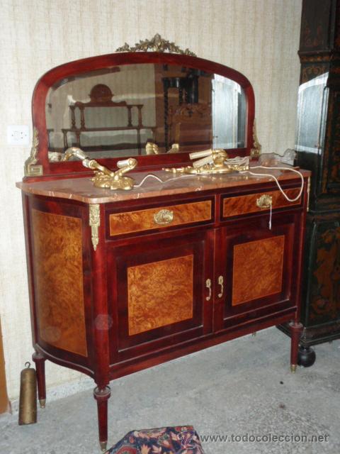 Lote de muebles antiguos comodas espejos sill comprar antig edades varias en todocoleccion Tiradores para muebles antiguos
