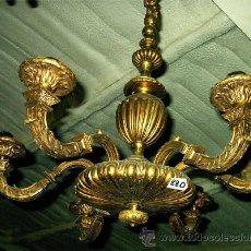 Antigüedades: LAMPARA ANTIGUA DE BRONCE, DE 6 BRAZOS. MEDIDA 68 CM DE DIAMETRO X 92 CM ALTURA. Lote 27260418