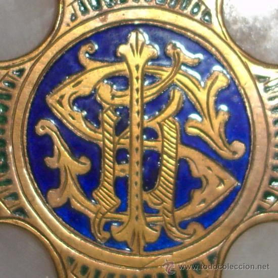 Antigüedades: antigua cruz benditera de esmalte y bronce s.XIX - Foto 11 - 17404619