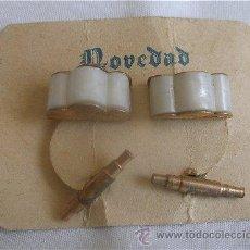 Antigüedades: GEMELOS DE BISUTERIA AÑOS 50 MODELO 1. Lote 111003548
