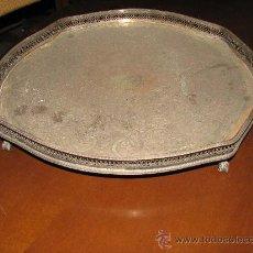 Antigüedades: BANDEJA DE METAL GRABADO. 38 CM DIAMETRO.. Lote 27595304