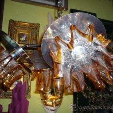 Antigüedades: LAMPARA TECHO ACERO CROMADO MURANO.CASA MAZZEGA DESIGN. Lote 9447899