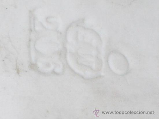 Antigüedades: GIGANTESCA BENDITERA BISCUIT ANGEL ROSA 45 X 25 CMS - Foto 6 - 25215144