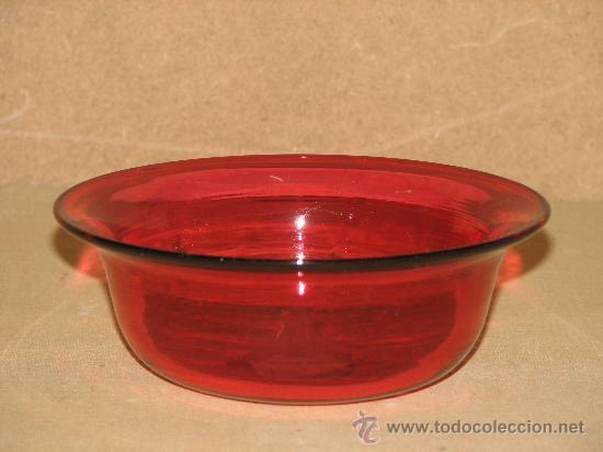 Lavabo Rojo Cristal.Antiguo Y Espectacular Conjunto De Lavabo De C Verkauft