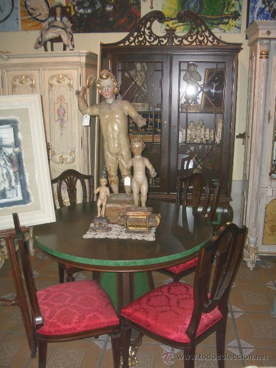 EXCLUSIVO COMEDOR, MUY COLOCABLE, REALIZADO PARA EXPOSICIÓN, A PRECIO DE LIQUIDACIÓN (Antigüedades - Muebles Antiguos - Mesas Antiguas)
