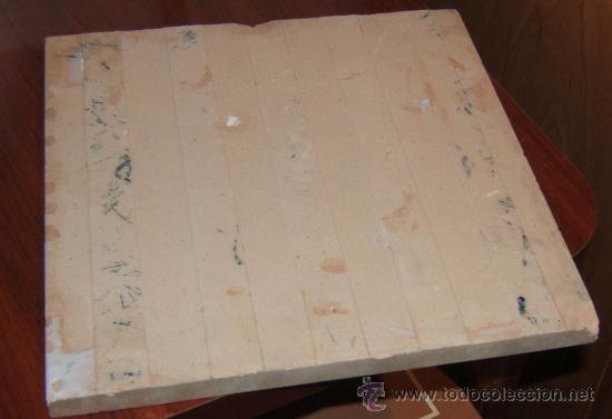 Antigüedades: PRECIOSA BALDOSA PORTUGUESA DEl año 1810- 20 X 20 cm. - Foto 2 - 16546891