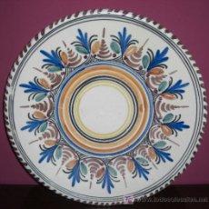 Antigüedades: FUENTE DE CERAMICA - SANGUINO - APROX. 30 CM. DE DIAMETRO. Lote 26626881