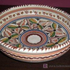 Antigüedades: FUENTE DE CERAMICA - SANGUINO - TOLEDO - APROX. 24 CM. DE DIAMETRO. Lote 26626882