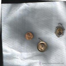 Antigüedades: LOTE DE 3 ANTIGUAS MEDALLAS RELIGIOSAS.. Lote 26332804
