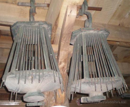 Antigüedades: faroles de forja antiguos , medida 100 x 55 x55 cm aproximadamente. - Foto 2 - 21233387