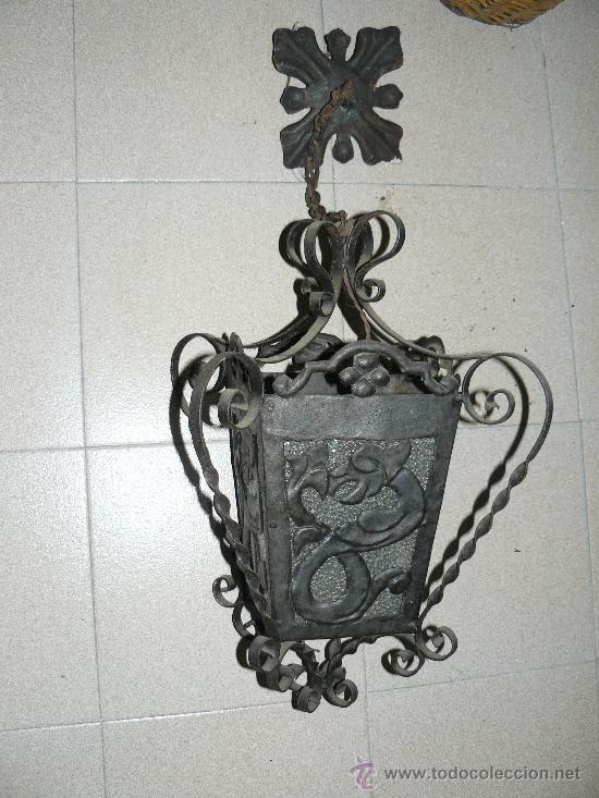 antiguo farol de forja de estilo modernista 19 comprar