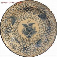 Antigüedades: MANISES - PLATO AZUL - S. XIX -. Lote 27205512