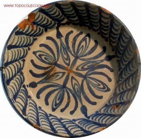 FAJALAUZA - FUENTE AZUL -CERAMICA DEL - S. XVIII -XIX (Antigüedades - Porcelanas y Cerámicas - Fajalauza)