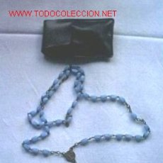 Antigüedades: ANTIGUO ROSARIO DE CUENTAS AZULES. Lote 27604774