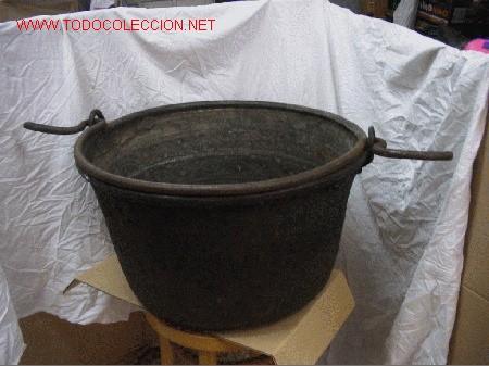 CALDERO BRONCE (Antigüedades - Hogar y Decoración - Otros)