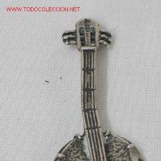 Antigüedades: BROCHE EN FORMA DE BANJO EN PLATA. Lote 1630330