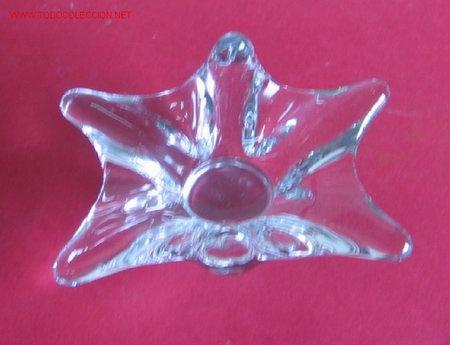 CENTRO DE CRISTAL CON GROSOR .. ESTA EN .. 16 X 8,5 CM. 4 CM. DE DIÁMETRO (Antigüedades - Cristal y Vidrio - Otros)