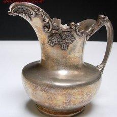 Antigüedades: ANTIGUA JARRA DE METAL PLATEADO. Lote 26672673