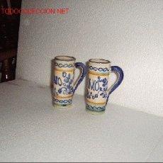 Antigüedades: 2 JARRITAS DE VINO - PUENTE DEL ARZOBISPO. Lote 18721204