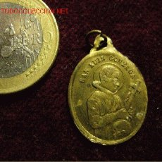 Antigüedades: MEDALLA RELIGIOSA SAN LUIS GONZAGA. Lote 26160865