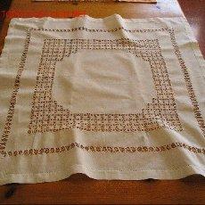 Antigüedades: MANTEL ENCAJE CANARIO. Lote 21905263